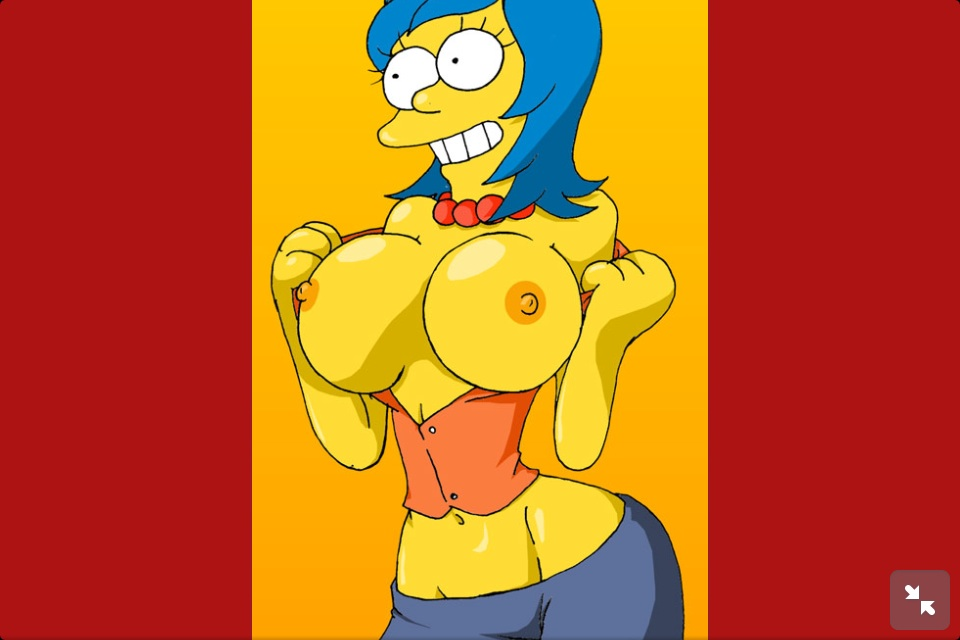 simpson marge with big boobs Starfire from the titans go
