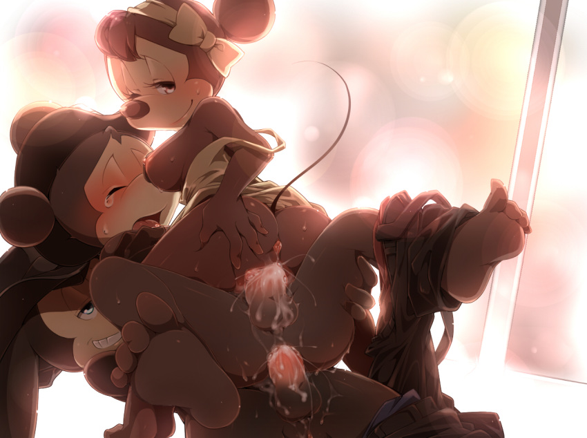 rabbit and ortensia lucky oswald the Five nights at freddy's marionette human