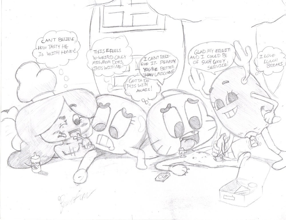 gumball world amazing e621 of Chica and foxy having sex